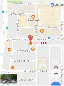 titik lokasi Bakso BOM Mas Erwin dari google maps