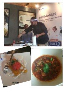 Chef Lucky mendemokan Beef Moroccan Soup dan Banana Colada