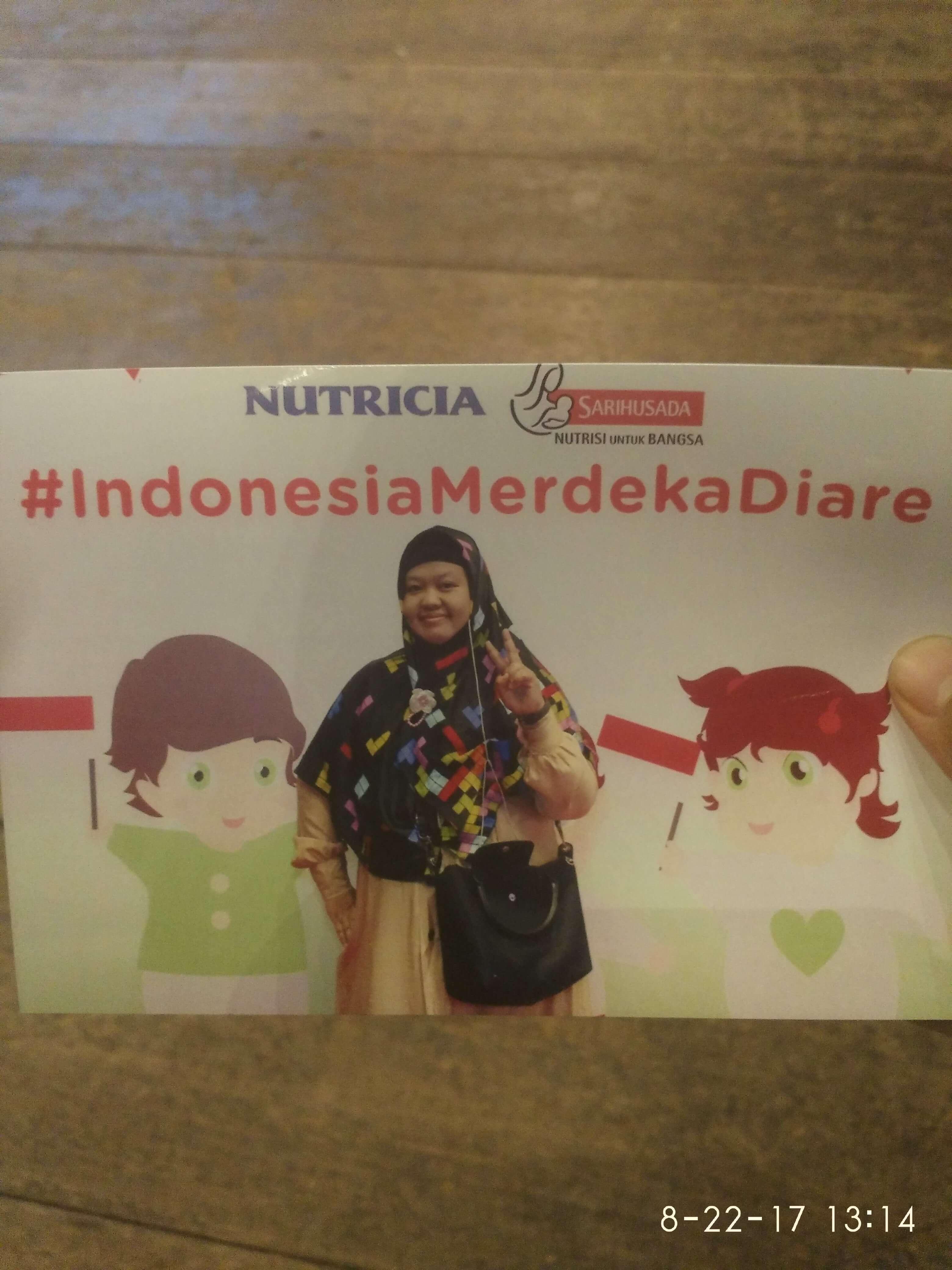 Bukti kehadiran saya di acara #indonesiamerdekadiare