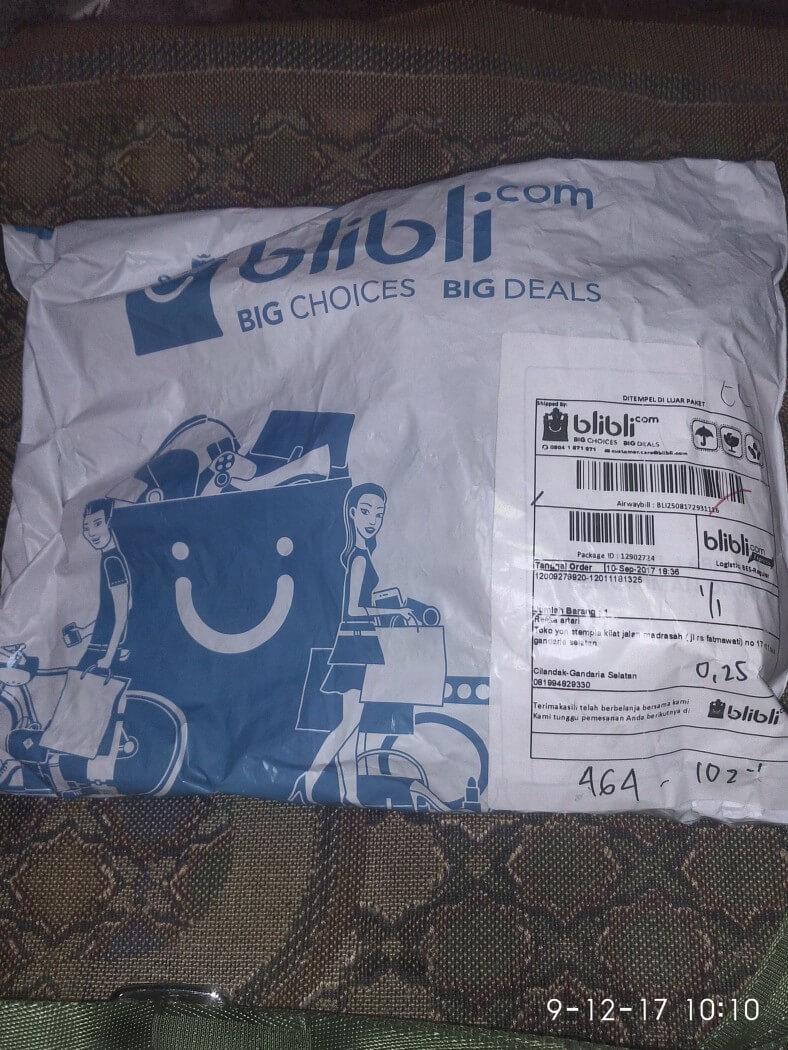 paket tiba dengan selamat.