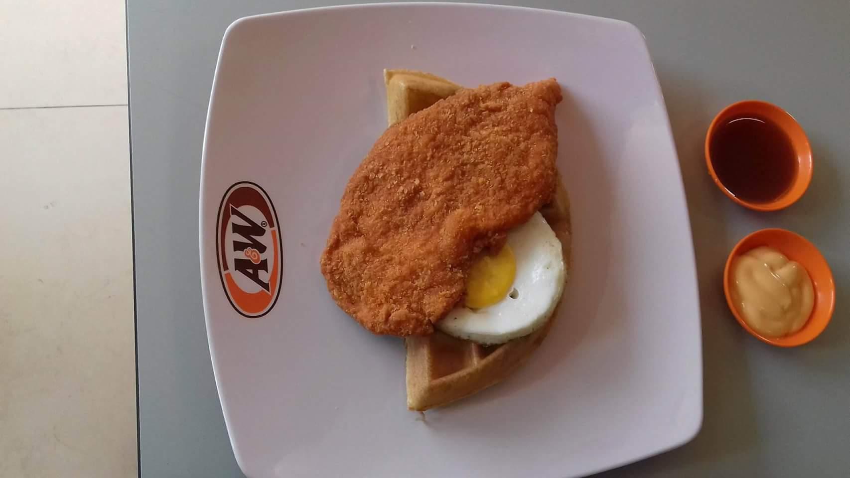 Fish tender waffle half