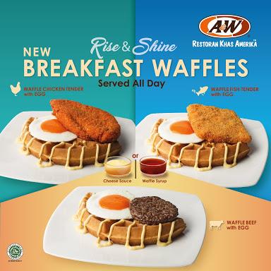 All menu breakfast waffle
