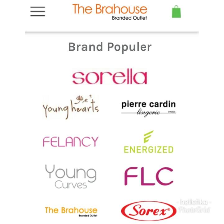 Brand yang ditawarkan di site The Brahouse