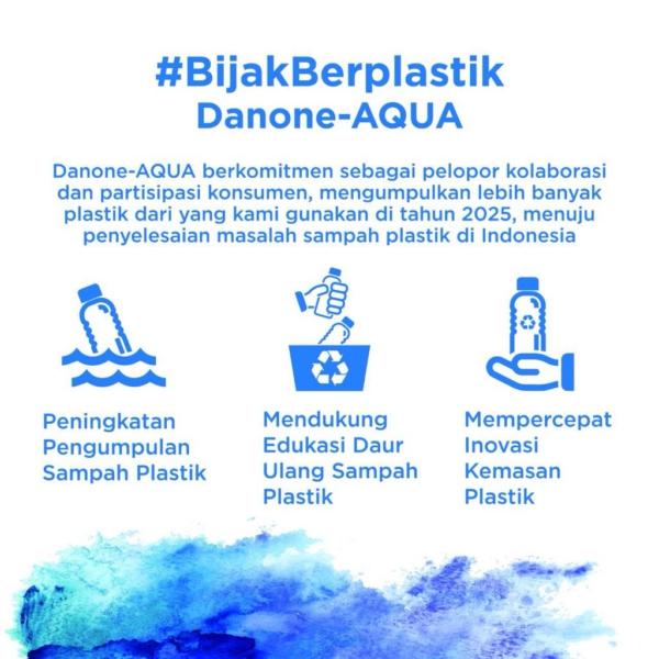 3 komitmen Danone dalam #bijakberplastik