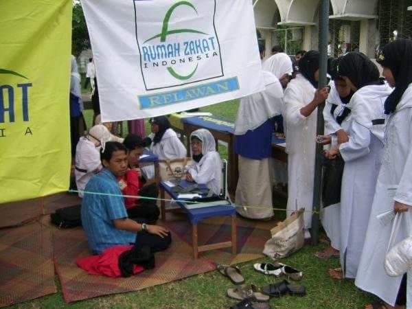 Pertama kali ikut kegiatan Relawan Rumah Zakat yang dulu masih bernama RZI