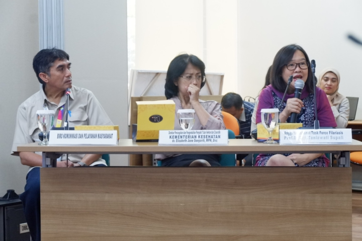 Prof Dr Taniawati Supali, Anggota Nasional Task Force Filariasis