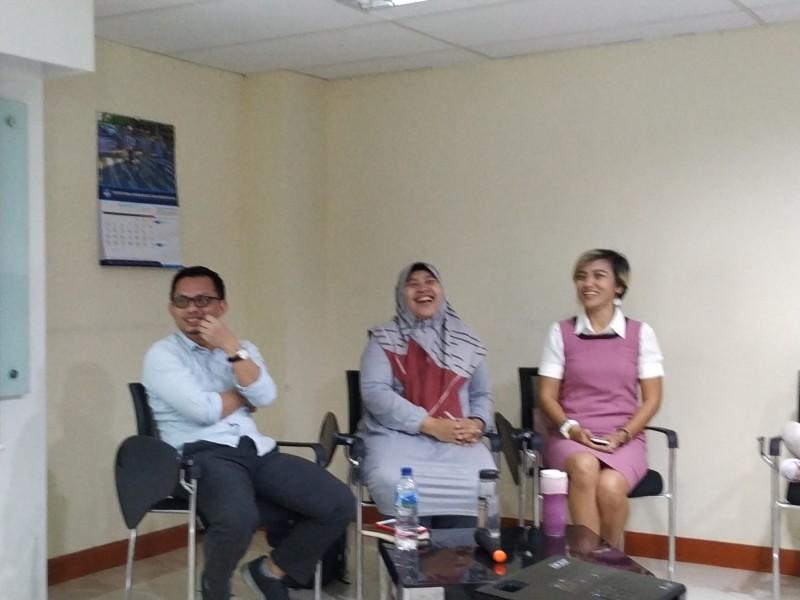 Narasumber dalam diskusi bersama Yayasan Lentera Anak